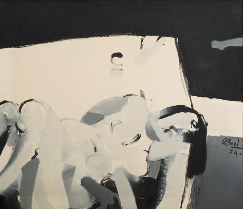 Delo akademskega slikarja Bonija Čeha. Slika